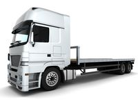 Cargo Delivery Vehicle Stock Photo