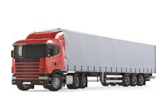 Cargo delivery vehicle truck Stock Photo