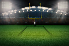 Cargo do gol de campo do futebol americano Fotografia de Stock Royalty Free