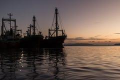 Cargo en el lago Tailandia Fotografía de archivo libre de regalías