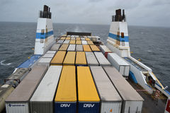 Cargo ferry. Royalty Free Stock Photography
