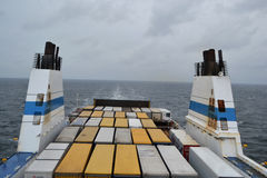 Cargo ferry. Stock Photos