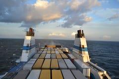 Cargo ferry. Stock Photo