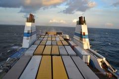 Cargo ferry. Royalty Free Stock Photos