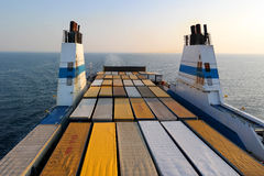 Cargo ferry for transport trucks Royalty Free Stock Image