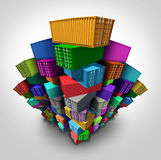 Cargo Freight Containers royalty free illustration