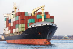 Cargo freight ship Stock Images