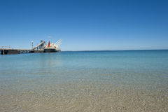Cargo Freight Ship at Jetty Royalty Free Stock Photography