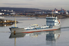 Cargo freight ship Stock Image