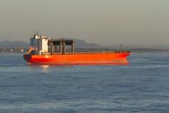 Cargo général géant avec de grandes grues de portique à l'ancrage photographie stock libre de droits