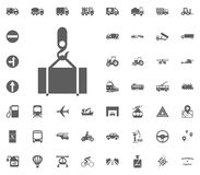 Cargo goods icon. Transport and Logistics set icons. Transportation set icons.  Stock Images
