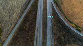 Cargo gps tracking vehicle recognition above view