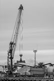 Cargo handling in the port. Royalty Free Stock Images