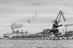 Cargo handling in the port. Stock Photos