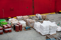 Cargo in harbor Royalty Free Stock Photography