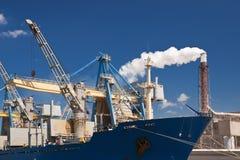 Cargo harbor royalty free stock photo