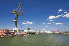 Cargo harbor. In Poland - Gdansk - Danzig Royalty Free Stock Images