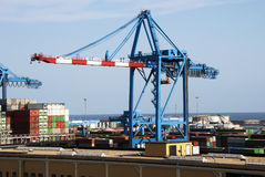 Cargo harbor Stock Images