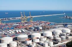 Cargo harbor Stock Images