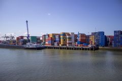 Cargo harbor Stock Photography
