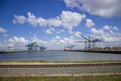 Cargo harbor Stock Image