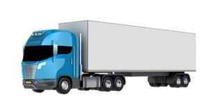 Cargo hauler. My own design. Isolated on white Royalty Free Stock Photo