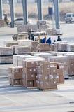 Cargo hecho en China en el aeropuerto Fotos de archivo
