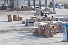 Cargo hecho en China en el aeropuerto Imagenes de archivo