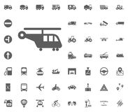 Cargo helicopter icon. Transport and Logistics set icons. Transportation set icons.  Royalty Free Stock Photography