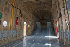 Cargo hold of Mi-26 helicopter Stock Images
