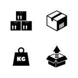 cargo Iconos relacionados simples del vector Foto de archivo