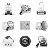 Cargo icons | B&W series Royalty Free Stock Image