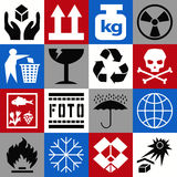 Cargo icons Royalty Free Stock Photo