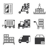 Cargo icons Royalty Free Stock Image