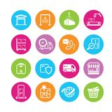 Cargo icons Stock Images