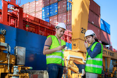 Cargo Industrial Team Working Royalty Free Stock Image