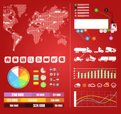 Cargo infographics Royalty Free Stock Photos