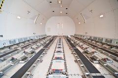 Cargo interno delle merci aviotrasportate immagini stock libere da diritti