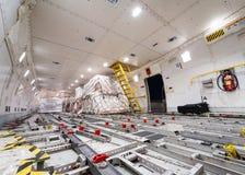 Cargo interno delle merci aviotrasportate Fotografia Stock