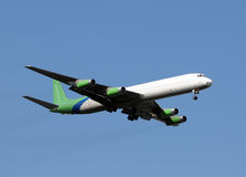 Cargo jet. Old jet airplane converted to cargo use stock photography