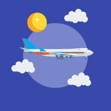 Cargo jet airplane flying in the sky Royalty Free Stock Photography