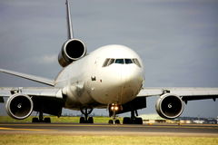 Cargo jet on runway. International cargo jet on runway Royalty Free Stock Photo