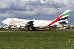 Cargo Jumbo Jet landing Royalty Free Stock Images
