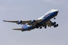 Cargo jumbo jet taking off Royalty Free Stock Photo
