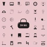 Cargo of 20 kilograms icon. Detailed set of Measuring Elements icons. Premium quality graphic design sign. One of the collection i. Cons for websites, web design Royalty Free Stock Photos