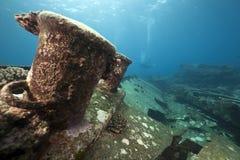 Cargo Kormoran del naufragio - ha affondato in Tiran 1984 Immagine Stock