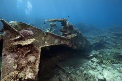 Cargo Kormoran del naufragio - ha affondato in Tiran 1984 Immagini Stock Libere da Diritti