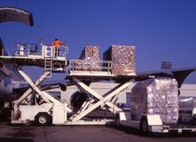 Cargo loading royalty free stock photos