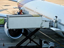 Cargo loading at the airport Royalty Free Stock Images