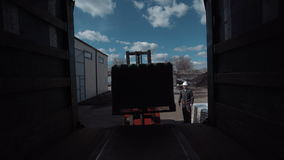 The cargo loading stock video